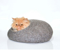 felt cat house / felt pet furniture / felt cat nap cocoon