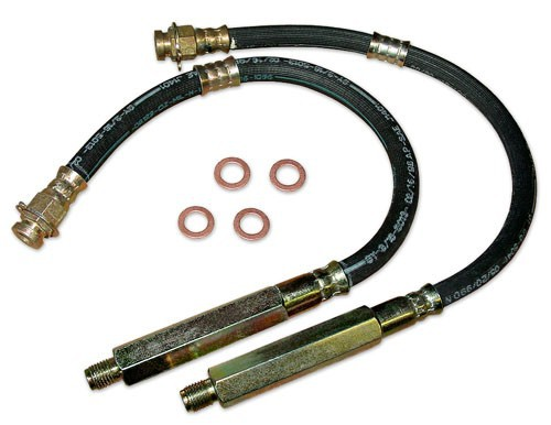 1965-70 MUSTANG, FRONT REPLACEMENT HYDRAULIC BRAKE HOSE, DISC BRAKES (EACH)