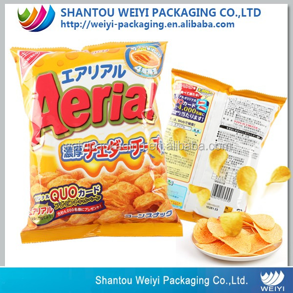 FDA certificated inflatable potato chips bag with custom logo design printing