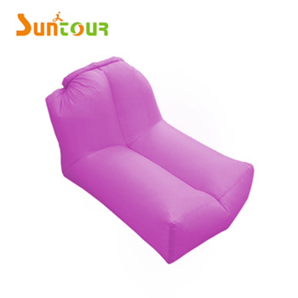 2018 Pink Air Mattress Couch Air Sofa Outdoor Camping Beach Waterproof Fast Inflatable Air Lounger Bed Hammock Factory