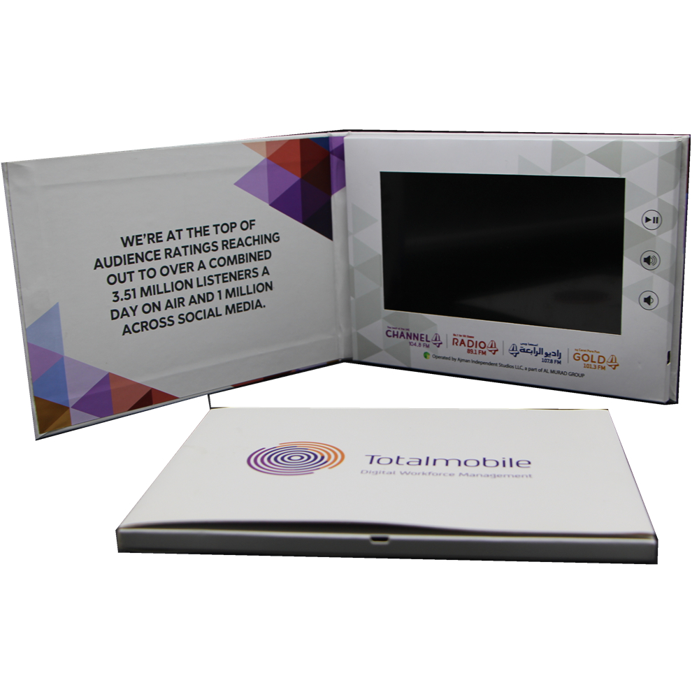 China 7 Inches Matte Lcd Video E Brochure For Invitation, Greeting,Business Promotion