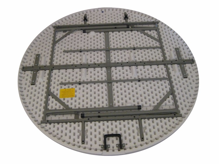 China Cheap HDPE Blow Molding Plastic Resin Round Folding Table