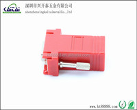 red rj45 to hd15p vga female hood computer adapter