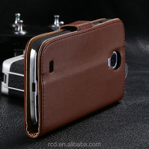 Fashion Genuine Leather Flip Cover Case for Samsung Galaxy S4 I9500 Belt Clip Waterproof RCD01248