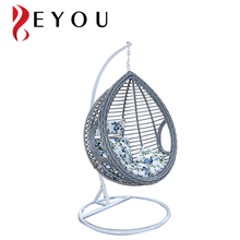 Cheap outdoor bird nest rattan wicker swing egg hanging chair for sale
