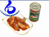 Canned Fish Food Premium Quality Private OEM Flavored Canned Mackerel with Tomato Sauce