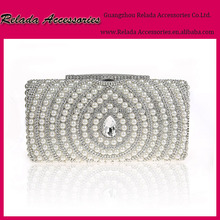 OEM& EOM Ladies Party Elegant box pearl Clutch Evening Bags for italian shoes and bag sets