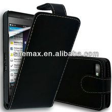 Plain Flip Style Cover For Blackberry bb Q10