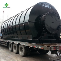 10kg-30T Waste Tyre/Plastics Recycling Machine Pyrolysis Plant To Diesel To Make Electricity