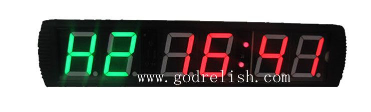 Hot selling 6 digits gym digital countdown timer low price