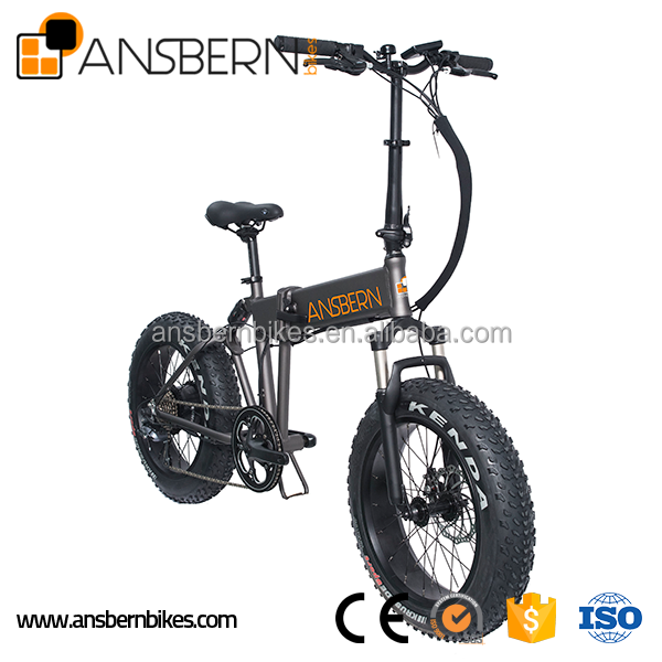 20 Inch 500W 36V 10.4AH Folding Fat Electric Bike e cycle electric bike ASB-EB-04