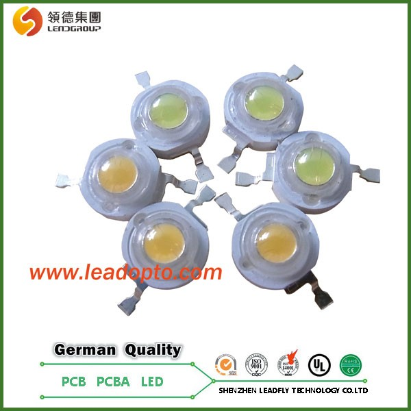 High power 1-3W led diode Epistar Single Color LED Bead with CE/UL/ROHS.