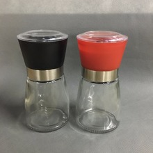 Best selling Glass Pepper set Salt Herb Spice Hand Grinder Mill manual pepper mill