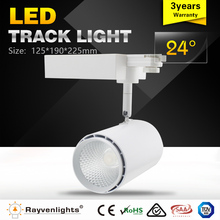 CE approved 3wire/4wire white or black 30w led rail track spot lights