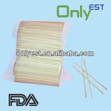 Natural top quality small bamboo sticks for hot dog for fruit or cocktail