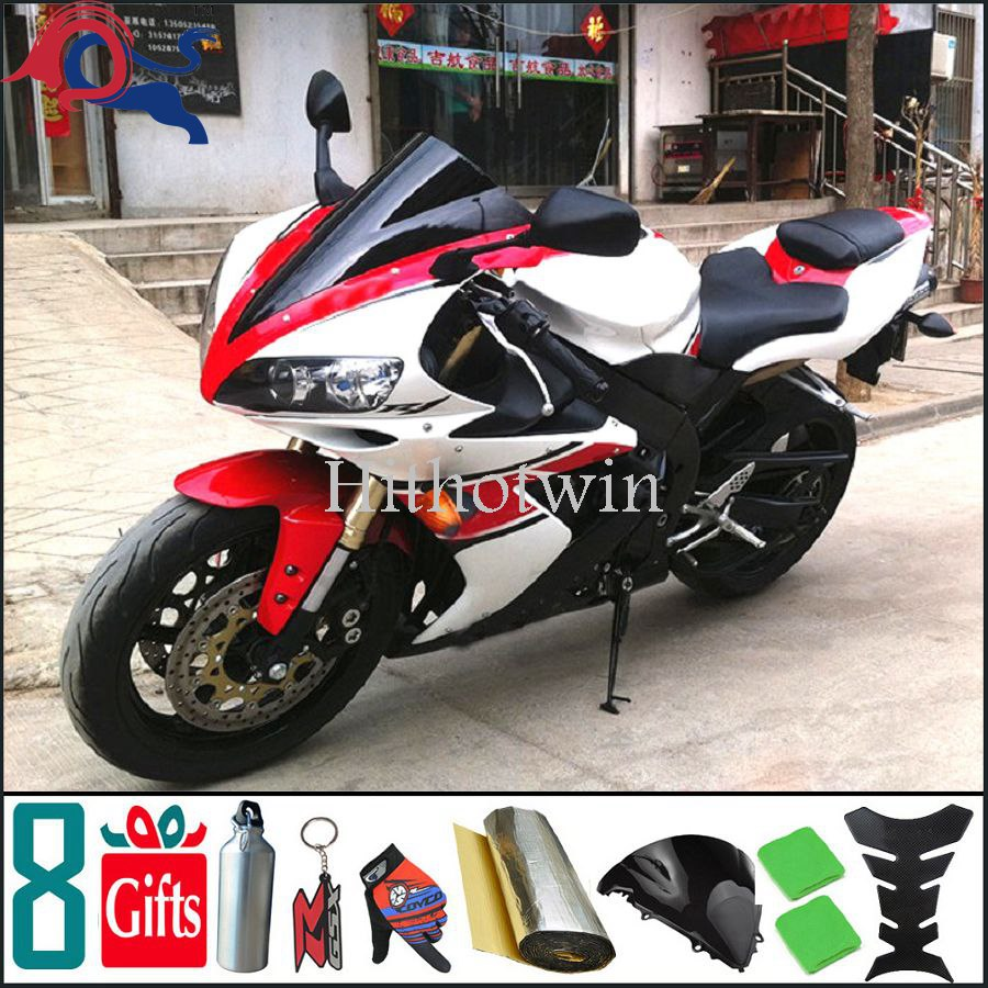 2004 2005 2006 YZFR1 red white ABS Plastic Fairing For yamaha YZF-R1 2004 2005 2006 Aftermarket Fairing Motorcycle Body Kit