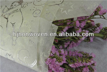 popular flocked design Non-woven fabric roll for flower wrappping