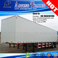 2 axles BPW step wise transporting coal flatbed van type semi trailer truck with stake