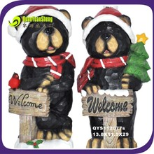 resin black bear ornament/craft/decoration