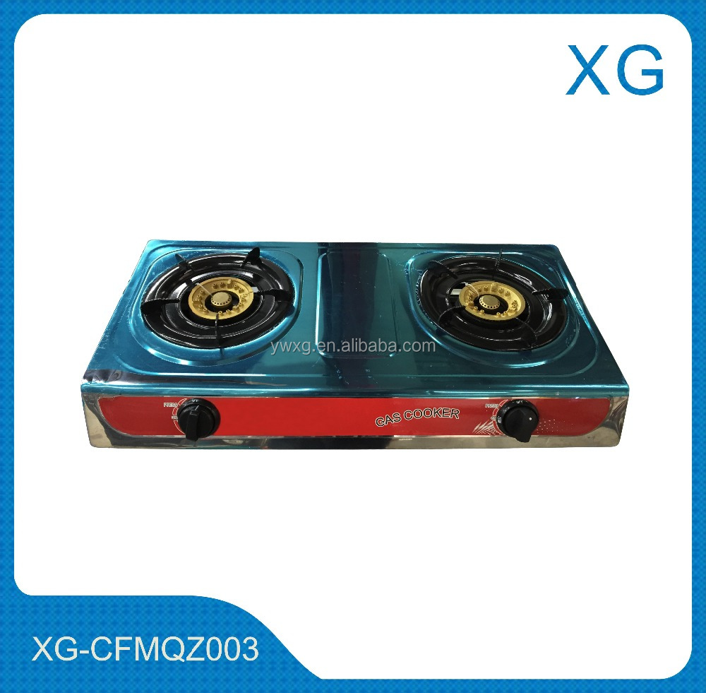 Gas stove/2 burners gas cooker/Cheap price stainless steel table top gas stove