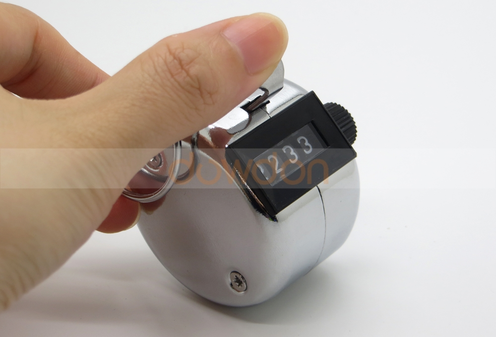 Hand Held Tally Counter Manual Counting 4 Digit Number Golf Clicker