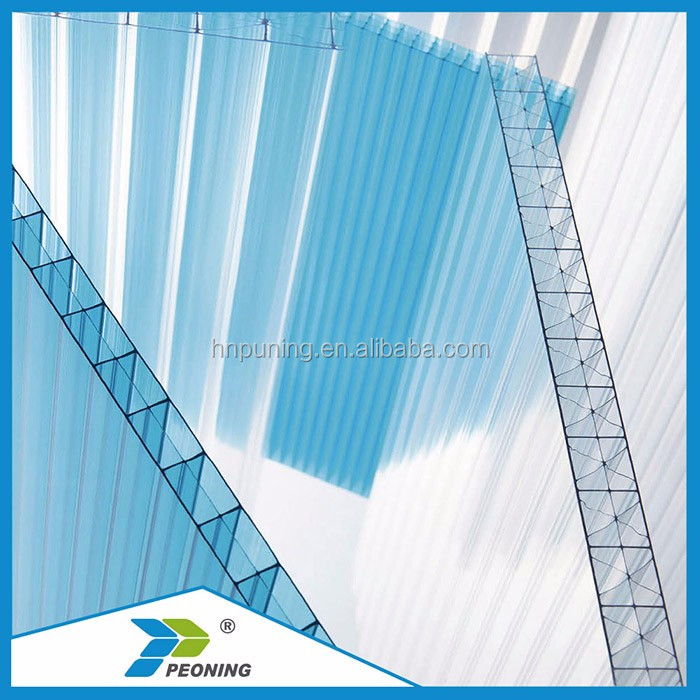 Transparent PC Polycarbonate Plastic Hollow Roofing Sheets ten years quality