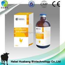 veterinary pharmaceutical antibiotics enrofloxacin oral solution with animal antibiotics sale