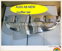 stainless steel muffler dual tail for AUDI A8
