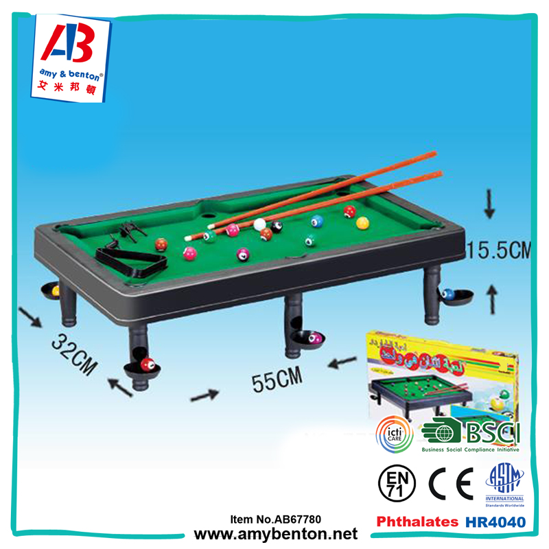 Wholesale China billiards toy snooker pool table for kids