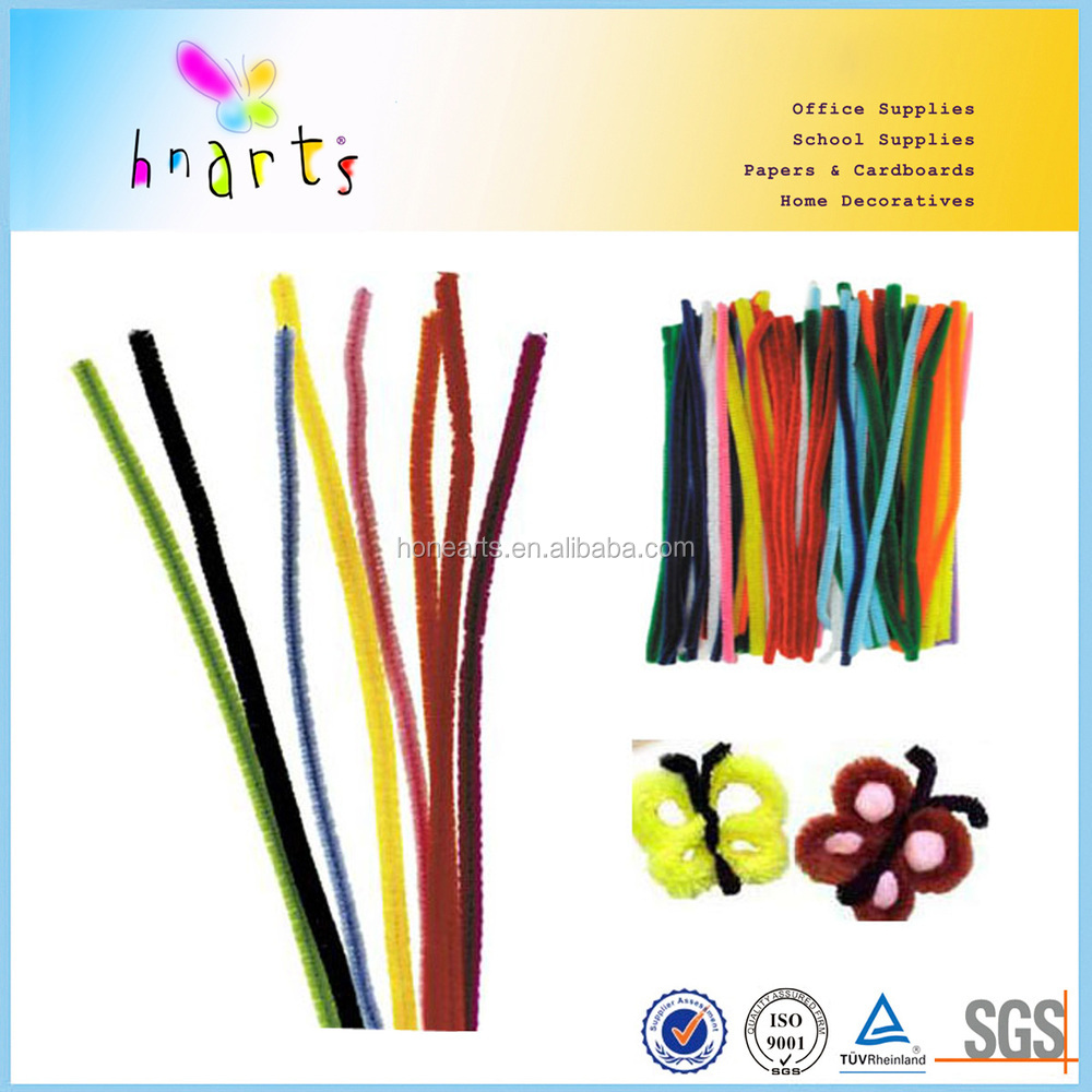 colorful kids flexible chenille stems, craft pipe cleaner