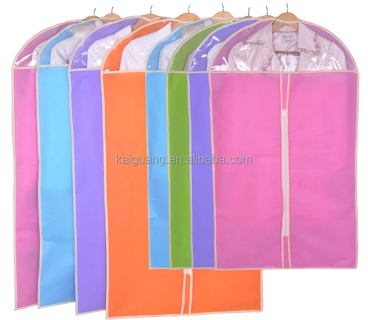 Personalised foldable design wedding dress and dance costume suit packaging wholesale cotton fabric garment bag