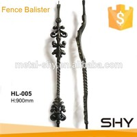 scroll twist cast iron metal baluster for decor of fence stair