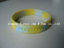 Gift use mix color silicone bracelet