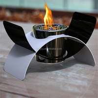 Portable table top stainless steel ventless bio ethanol fireplace