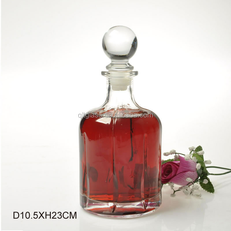 Specials antique glass rum bottles for home decoration wholesale