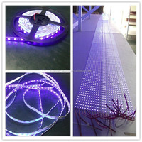 2014 hot sale high quality factory price cuttable 5m/roll 12v waterproof 5050 black light uv led strip