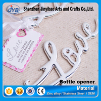 hot sale silver LOVE beer bottle opener LOVE letter gifts wine openers