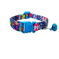 High quality Nylon Dog Collar with Color Bell and Natural Weave