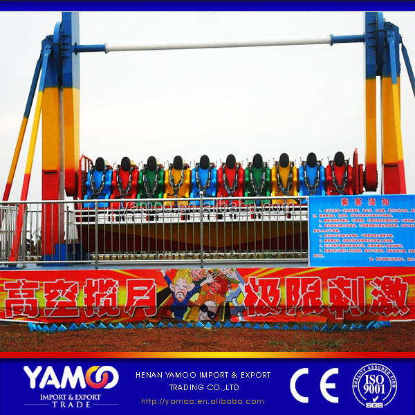 2016 Yamoo Promotion Amusement Park Rides Top Spin Outdoor Space Travel Thrilling Hurricane Rides