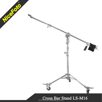 Stain steel Photographic stand video stand camera stand with wheels kits