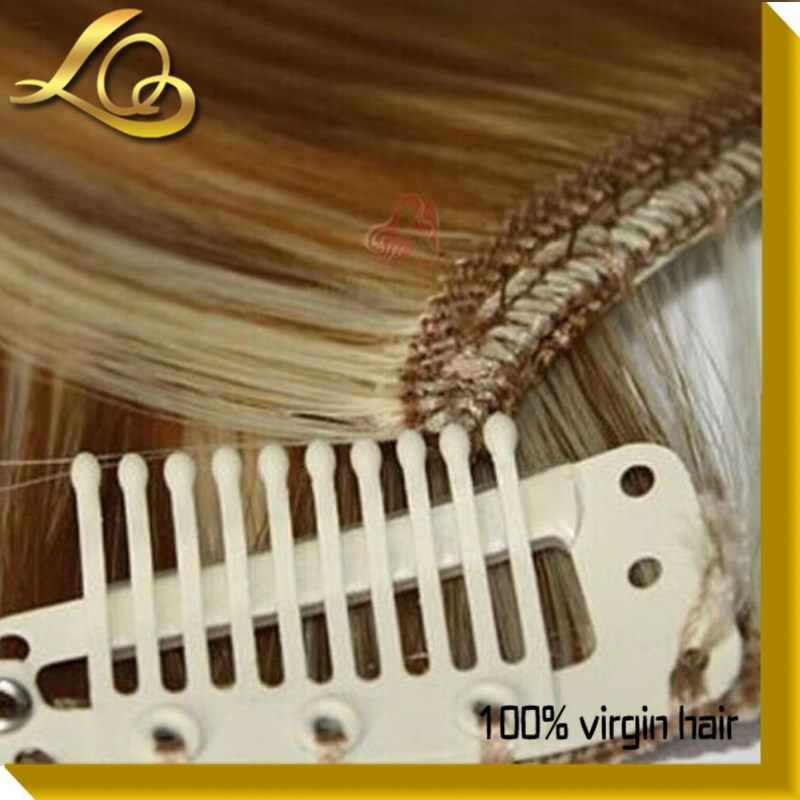100% Human Hair Dyed Color Wholesale Price Clip In Human Hair Extension