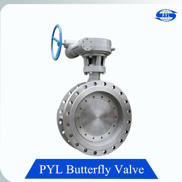 DN150 gear actuated flange butterfly valve factory