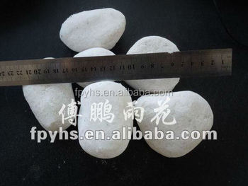 tumbled snow white pebble stone