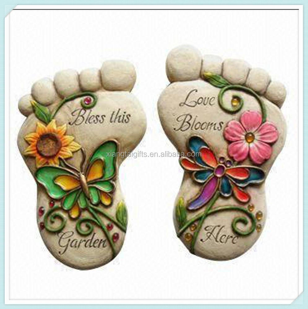 Wholesale Foot Shaped Design Stepping Stone For Home Garden Decorations