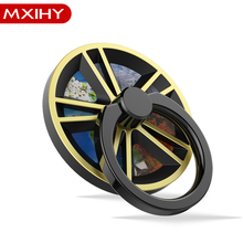Vehicle Wheel Shape Creative Mobile Phone Holder and Spinner Rings 2 in 1