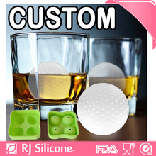 RJSILICONE 4 ball round ice mold silicone ice ball 2 inch ice ball maker