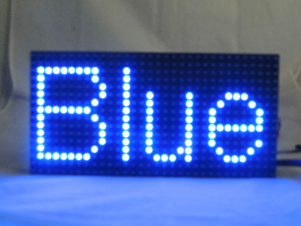 HOT Sales P10 Good price outdoor single bule color p10 led moving sign