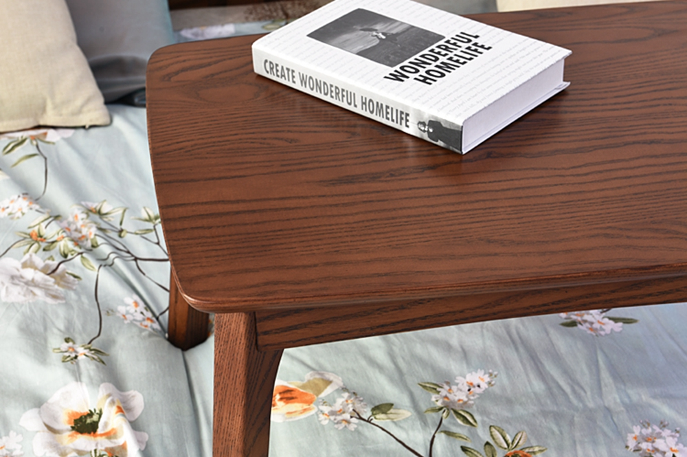 Simple Design Computer Desk Solid Wood Laptop Bed Table
