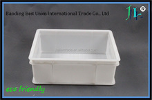 China supplier reliable Quality non stackable pp mixed color turnover box