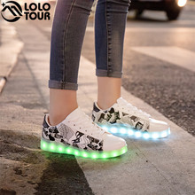 2018 Unisex Adults Flashing Running Luminous Lamp Shoes Casual Lights Grow Rechargeable Lace-up Led Light Shoes